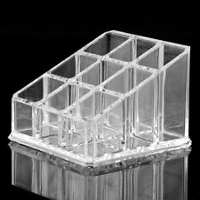 Makeup 9 Lipstick Acrylic Storage Display Stand Case Rack Holder L6