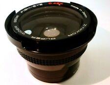 ZYKKOR Super Wide Lens 0.42X Semi- Fish-eye 52mm threaded rim ultra