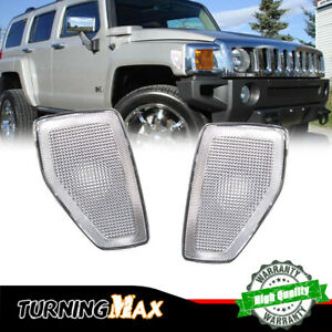 For 2006-2010 Hummer H3/09-10 H3T Smoked Front Fender Side Marker Lights Housing