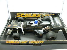 Scalextric C126 Lotus 77, Type 4 with blue helmet, boxed
