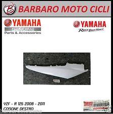 FIANCHETTO LATERALE CODONE DESTRO BIANCO ORIGINALE YAMAHA YZF R 125 2008 2011