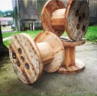 Sanded Small Wooden Cable Reel / Drum / Spool Upcycled Industrial