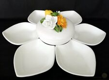 Italian Antipasti Relief Floral Bowl Six Petal Shape Dishes | FREE Delivery U...