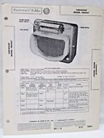 Vintage Sams Photofact Folder Radio Parts Manual Chevrolet Model 986067 Receiver