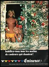 Publicité EMINENCE slip sous-vetements Homme underwear men vintage ad 1972 - 6i