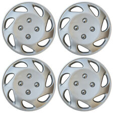 "Set of 4 NEW Hub Caps ABS Silver 14"" Inch Rim Wheel Cover Hubcaps Cap Covers"