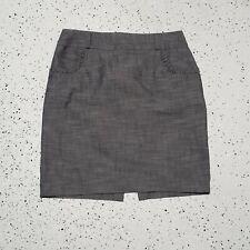 IZ Byer Junior's Skirt ~ Sz 13 ~ Gray ~ Above Knee ~ Cotton Blend