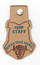 BOY SCOUT  BUFFALO TRACE COUNCIL  CAMP STAFF  LEATHER PP    IND