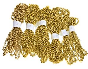 Gold Bead Garland plastic 90 feet total