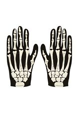 Adults Halloween Skeleton Fancy Dress Up Gloves Mens Costume Party Accessory