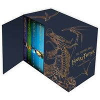 Harry Potter 7 Books The Complete Collection Hardback Box Set Magical Gift Set!