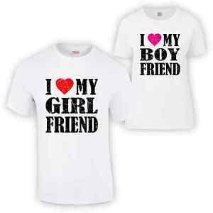 I Love My Boyfriend / Girlfriend T Shirt Valentines Day Gift Funny