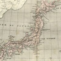 Japan by itself Asia Jesso Niphon Japon 1855 Dufour old map
