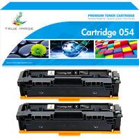 2x Black Toner Cartridge for Canon 054 Color Imageclass MF640C MF644cdw MF642cdw