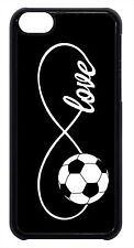Soccer Infinity Love Forever Black Case Cover for iPhone 4s 5 5s 5c 6 6 Plus