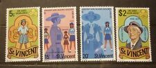 OLD BOY SCOUT GIRL GUIDE STAMP COLLECTION, ST VINCENT 1977 SET OF 4 MINT