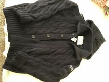 Abercrombie & Fitch Men's hand knit 100% Wool cardigan XxL A&F sweater