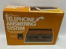 Vintage Cobra Telephone Answering Machine System & Remote Key AN-3200 Brand New