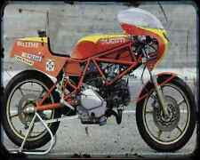 Ducati 500 Pantah Tt2 1 A4 Photo Print Motorbike Vintage Aged