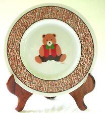 """Vintage B&D Christmas Teddy Bear 8"""" Plate - Santa's Cookies or Snack Plate"""