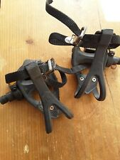 VP-399T Road Bike Pedals - With Toe Clips and Straps - Used -  Black