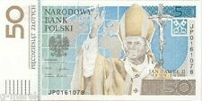 The first Polish banknote collector : 50 ZLOTYCH  Pope John Paul II - 2006-  UNC