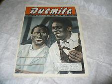 DUEMILA SETTIMANALE DI AVVENTURE N.14 1951 RARA RIVISTA FOTOROMANZI DORATA ZAMMI