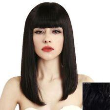 HELLOJF1428 long charming style fashion health straight black hair Wig wigs