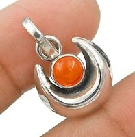 Natural Carnelian 925 Solid Sterling Silver Pendant Jewelry, ED33-1