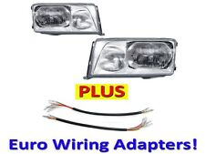 DEPO 1986-1993 Mercedes-Benz W124 Euro Glass Headlights Set + Wiring Adapters