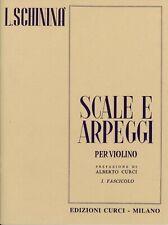 Luigi Schininà Scale e arpeggi per VIOLINO Fascicolo 1 Prefaz. di Alberto Curci