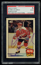 Dino Ciccarelli #6 signed autograph 1990-91 Topps Team Leader Card SGC Authentic