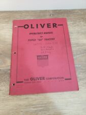 1957 Oliver Super 66 Tractor Operators Manual Vintage Farm Machinery Equipment