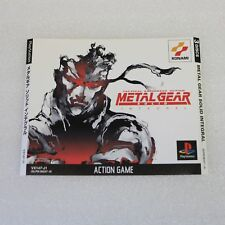 METAL GEAR SOLID INTEGRAL Sony PS1 PLAYSTATION PSONE GAME-Opera D'Arte Copertina