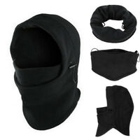 6 in1 women mens Neck Balaclava Winter Face Hat Fleece Hood Ski Mask Warm Helmet