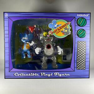 """Kidrobot The Simpsons Itchy 5"""" & Scratchy 8"""" Medium Vinyl Figures NEW"""