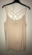 New Look Pale Pink Strappy Cross Back Blouse Top Size 12
