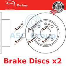 2 X Apec BRAKING 239mm Solide Original Qualität Ersatz Bremsscheiben (