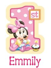 Personalize Custom Minie Mickey Mouse 1st Birthday T Shirt Party Gift with Name