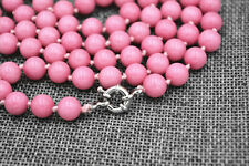 "New Beautiful pink 6mm Rhodochrosite Gemstone Beads Necklace 36 """" AA"