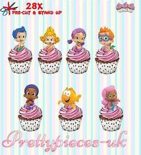 Bubble Guppies 28 Stand-Up Pre-Cut Wafer Paper Cup cake Toppers