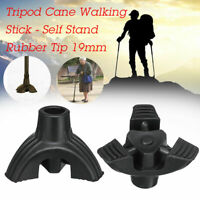 19mm 3/4 Tripod cane Tips Non-slip Feet Self Stand Walking Stick Bottom Foot