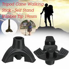 19mm 3/4 Tripod cane Tips Non-slip Feet Self Stand Walking Stick Bottom Foot