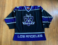 Los Angeles Kings Vintage 90's Pro Player Authentic NHL Home Jersey XL EUC Rare