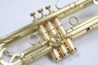 Trompete, Jazztrompete, Messing geschliffen, nicht lackiert