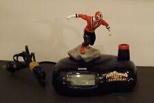 Mighty Morphin Power Rangers Super Samurai Alarm Clock Red Ranger Tested Bandai