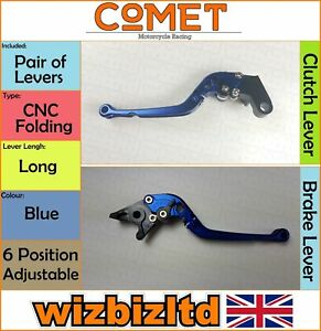 Yamaha FZ-1 Fazer 2001-2005 [ Plegable Largo Azul ] [ Comet Ajustable Raza