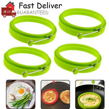 4PCS NEW Egg Fried Mold Silicone Ring Pancake Silica Gel Kitchen Cooking Tool