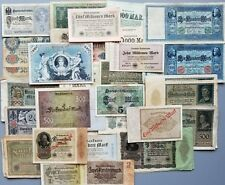GERMANY LOT OVER 120 BANKNOTES 1904 - 1923 WEIMAR RARE XF NO RESERVE