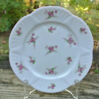 """Shelley England Fine Bone China """"Bridal Rose"""" Salad/ Luncheon Plate 8 inches"""